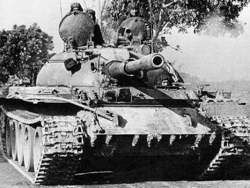 Indian T-55 tank Dhaka