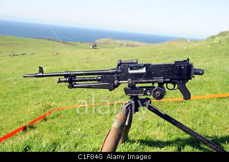he L7A2 GPMG, or 'GIMPY', is a 7.62x61mm belt-fed general purpose machine gun. The GPMG has been in service with the British mil