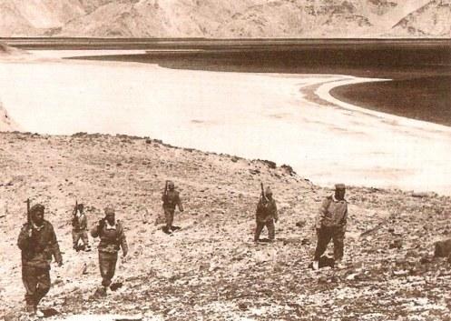 Las tropas indias en Laddakh antes del comienzo de las hostilidades. 1962 d