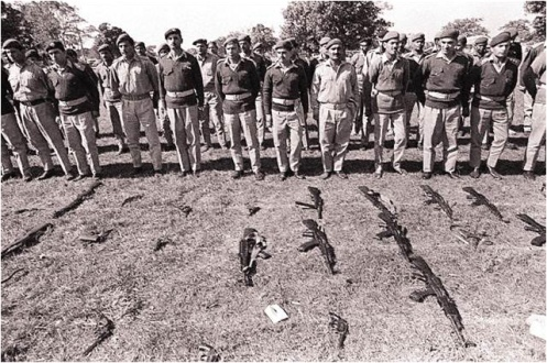 Pakistani Army officers surrender ceremony