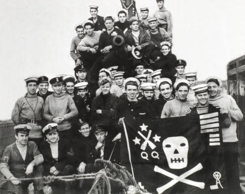 HMS. Trident flag