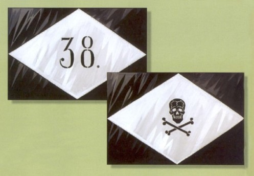 Signo de muerte batallón 38 º División de infantería. 1917