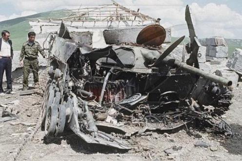Destruido Azerbaiyán BMP-1