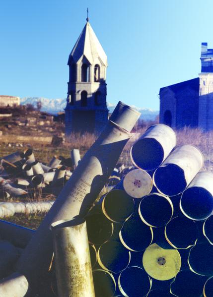 El Shusha. Catedral se convirtió en el almacenamiento de armas