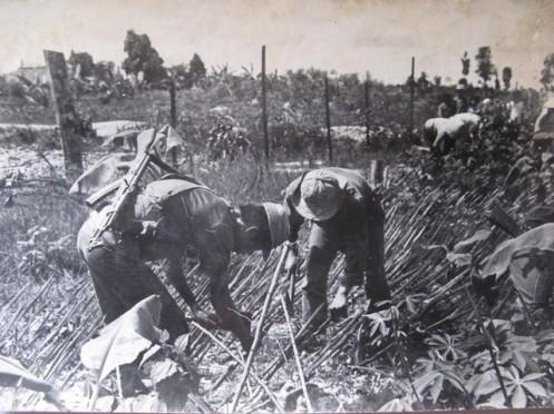 Guardias de Vietnam en la provincia fronteriza de Lao Cai en 1979