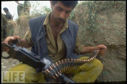 Soldado de Azerbaiyan guerra de nagorno karabaj