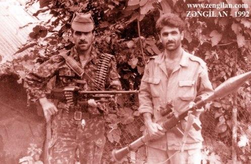 soldados Azerbaiyanos
