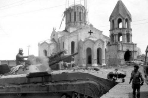 Tank armenia  Shusha. 1992 s