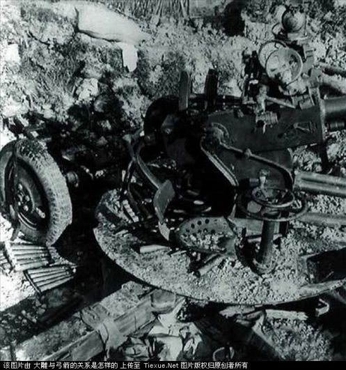 artilleria vietnamita destruida