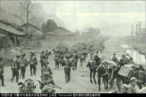 Las tropas después de la batalla  Lang Son autopista