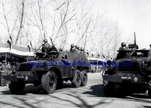 Btr152-desfile militar en damasco , siria en 1960