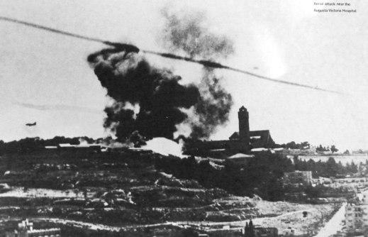 colina de la munición -guerra de los seis dias 1967-hospital augusta victoria