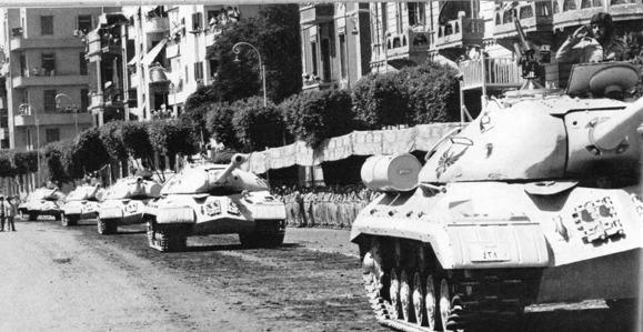Egyptian military tank, parade JS-3 M