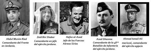 Generales guerra de los seis dias 1967...