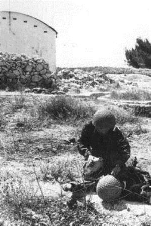 herido guerra de los seis dias 1967-colina de las municiones