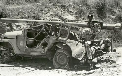 Jordanian 106 mm gun on a jeep - 6 Days War