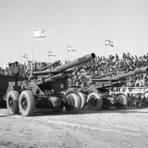 obuses M-50 155MM DESFILE MILITAR ISRAEL