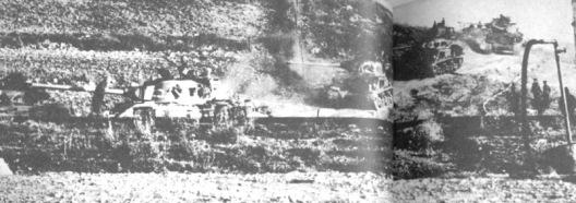 sherman contra patton-frente jenin 1967
