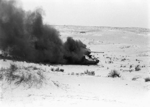 T-34 85mm destruido -guerra de los seis dias 1967