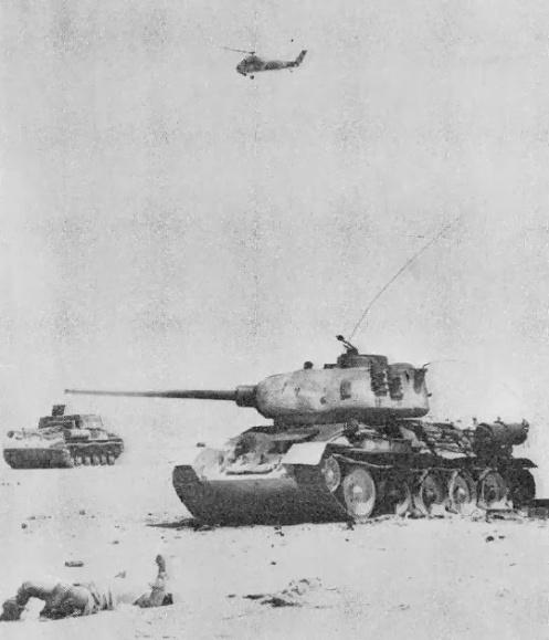 T-34-ISU-152-S-58 frente egipcio
