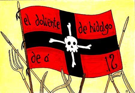 bandera doliente hidalgo