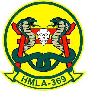 STICKER USMC UNIT HMLA-369 ATTACK HELICOPTER COL