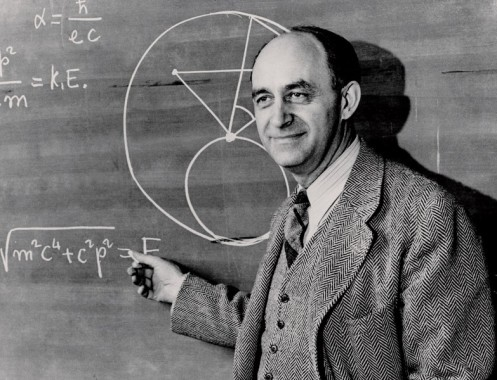 Enrico Fermi chalkboard_0