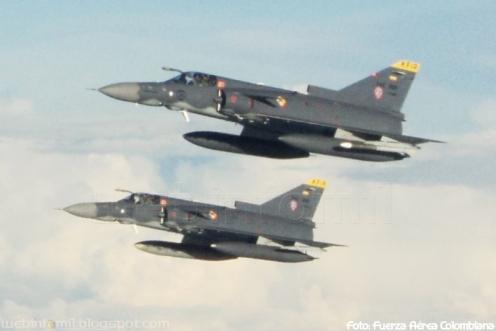 Misil Rafael Derby Fuerza Aerea Colombiana FAC Kfir COA C10