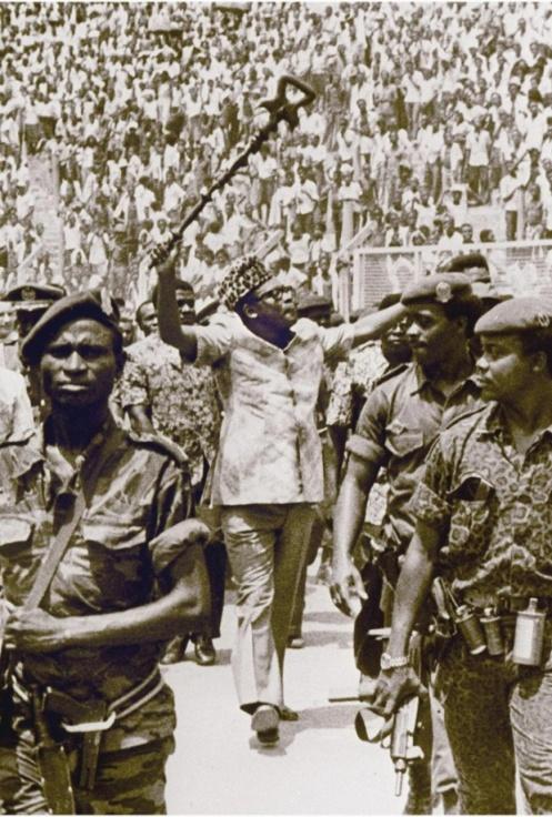 President Mobutu Sese Seko in 1977