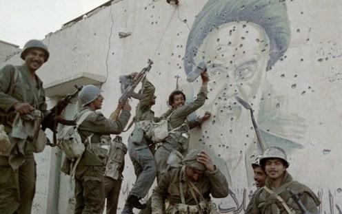 combatientes del ejército iraquí en Faw después de la liberación, m 1988
