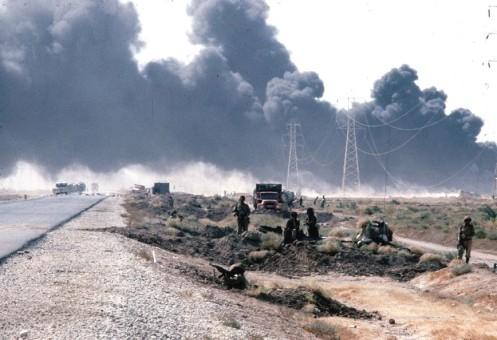 Durante una de las batallas contra iran, 1981