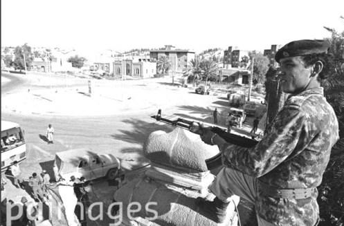 ejército iraquí, , en la ciudad de Khosravi en Irán después de su ocupación por el ejército iraquí,, 1981s
