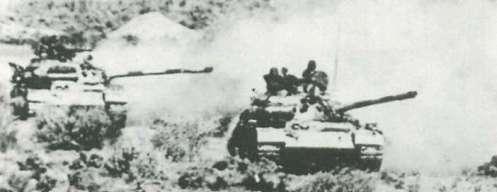 Las partes de la primera MD avanzar hacia Dezful, a finales de septiembre 1980.