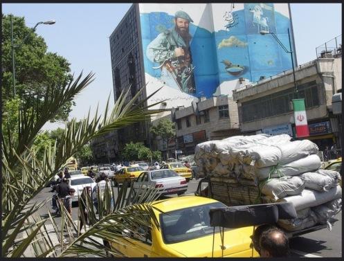 mural martir iran