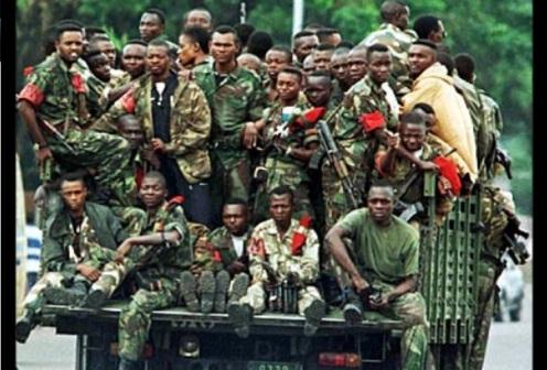 Soldados del ejército del Congo