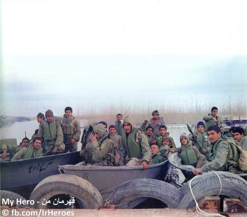 The Majnoon Island, 10 March 1985. The 8th army of Najaf Ashraf heading for Operation Badr.