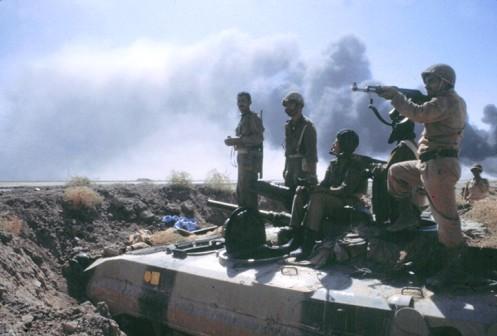 VIII brigada de infantería, durante las batallas de Abadan, 1981
