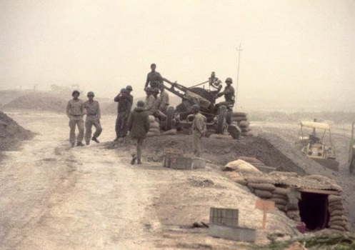 artillería Quad cañón calibre 14,5 mm antiaérea