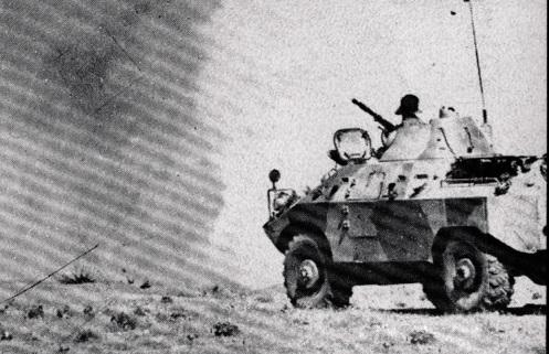 BRDM Soviética- ejército como un brigadas del tanque del reconocimiento -guerra iran-irak 80-88