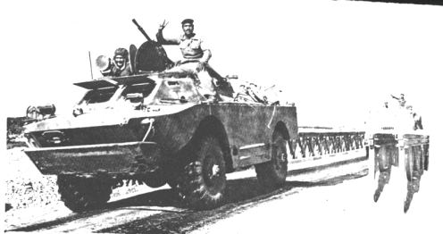 BRDM) Soviética-utilizado en el ejército iraquí -guerra irán-irak 80-88