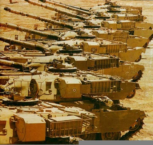 Captured Chieftain Main Battle Tanks