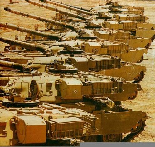 Captured Chieftain Main Battle Tanks