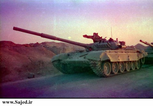 Captured Iraqi T-72M by Iranian forces.