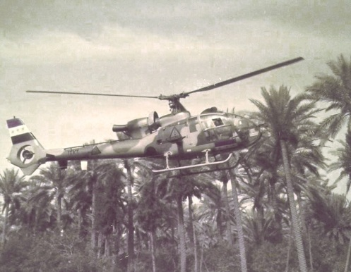 helicóptero Mi-(SA 342 Gazelle), también llamado el Iraq (Ghazal) fabricación francesa, del ejército iraquí,
