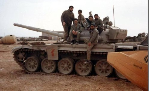 Iranian Revolutionary Guards T-72M in frontlines