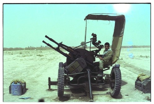 iranian ZPU-4 14,5mm Anti Aircraft gun h