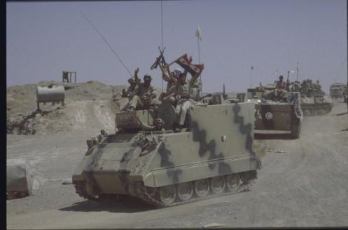 July 1988 from captured Iranian M577.