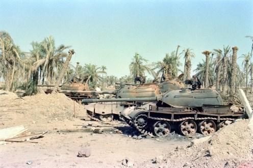 tanque iraquies fuera de combate .guerra Iran-Irak 80-88