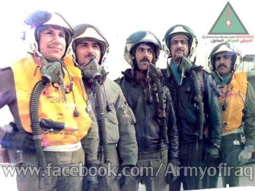 Un grupo de halcones iraquies (Sukhoi 22),, Basora, 1983