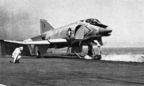 XF4H-1_on_cat_CVA-62